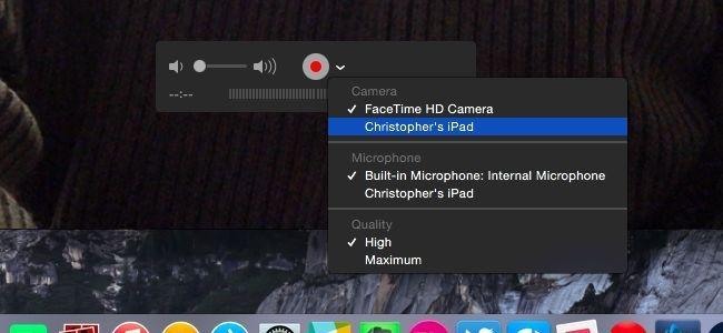 ضبط صفحه نمایش ios