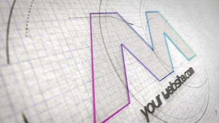 قالب آماده پروژه افترافکت لوگو blueprint-architect-logo