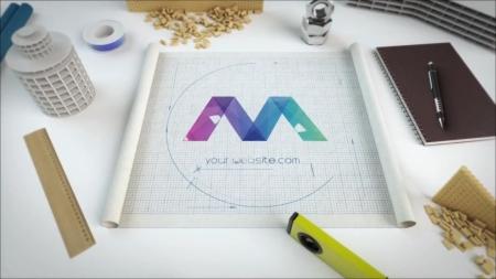 قالب آماده پروژه افترافکت لوگو blueprint-logo