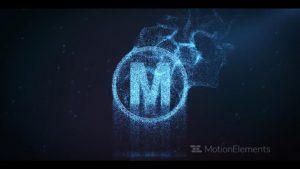 قالب آماده پروژه افترافکت لوگو cinematic-particle-logo