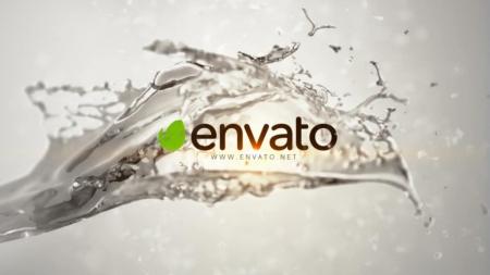 قالب آماده پروژه افترافکت لوگو clear-splash-logo
