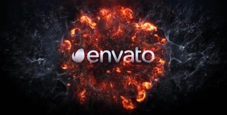 قالب آماده پروژه افترافکت لوگو explosion-logo-revea