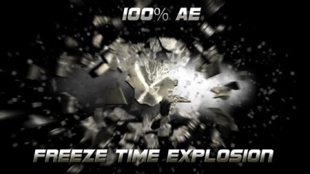 قالب آماده پروژه افترافکت لوگو freeze-time-explosion