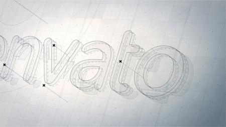 قالب آماده پروژه افترافکت لوگو structure-3d-logo
