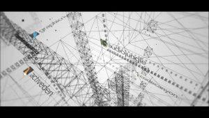 قالب آماده پروژه افترافکت لوگو wireframe-3d-grid