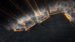 قالب آماده پروژه افترافکت لوگو industrial-laser-reveal